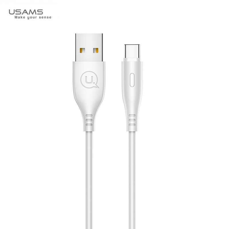 usams-us-u18--pvc-universal-type-c-to-usb-data-fast-2a-charger-round-plug-cable-1m-white-dana-mall